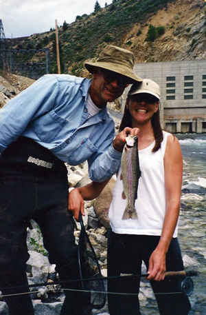 Dad and I, S. F. of the Boise River
